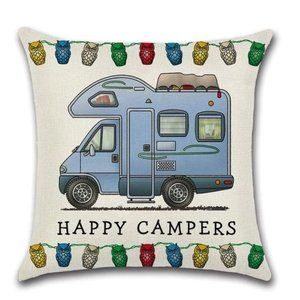 Happy Campers Pillow Cover